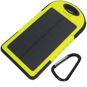The SG® Sport Solar Panel Charger Power Bank 5000mAh