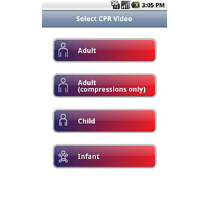 Smartphone Survival Apps Choking and CPR