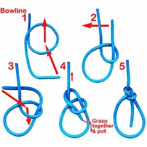 Tying a Bowline
